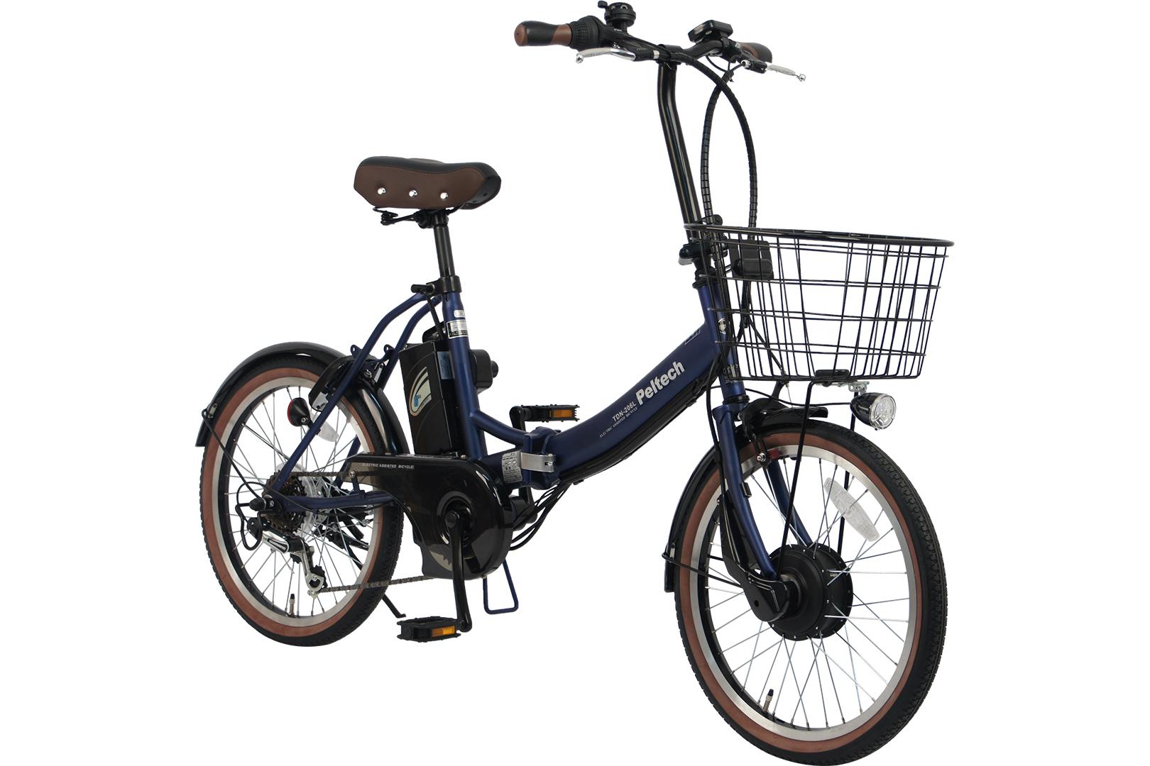 PELTECH ペルテック 折りたたみ電動アシスト自転車 20インチ 外装6段変速 TDN-206 組立必需品