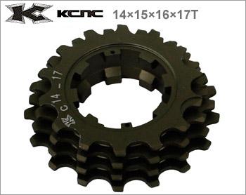 (送料無料)【KCNC】(ケーシーエヌシー)リプレイスギア 14×15×16×17T 408042【カセットスプロケット】(自転車)