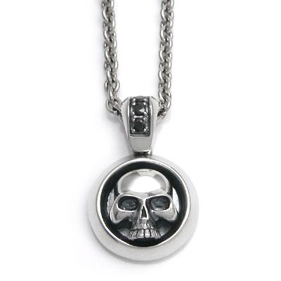 【送料無料】[Glass]Skull ブラックキュービックシルバーペンダント/DAgDART・ダグダート DT-218BCZ  971292