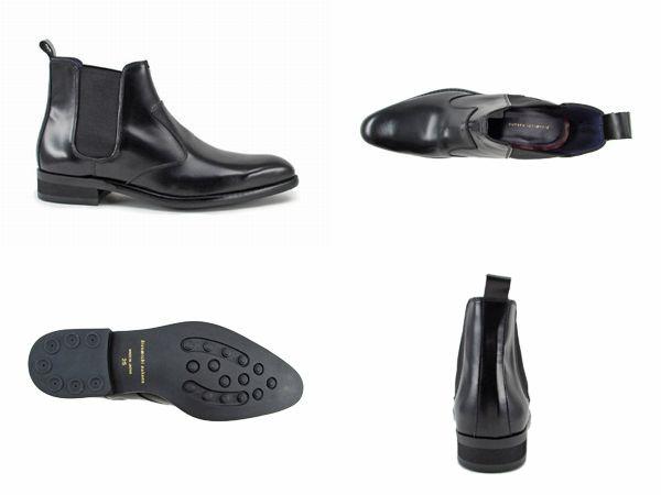 【472HAD】【hiromichi nakano】【送料無料】【牛革】【日本製】アッパー全て牛革☆  ロングノーズのサイドゴアブーツ ビジネスシューズ紳士靴