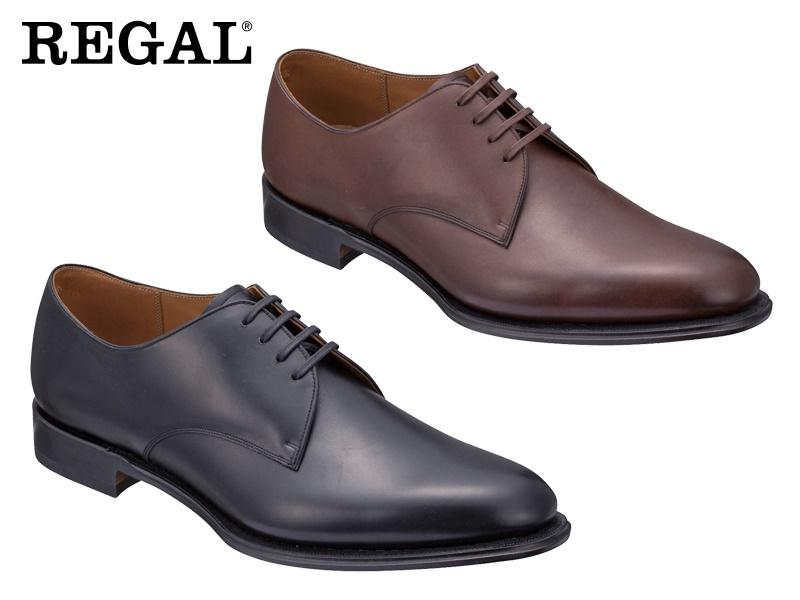 【04MRCF】【REGAL】【送料無料】アッパー全て本革星日本製☆グッドイヤーウエルト式製法プレーントウ ビジネスシューズ紳士靴
