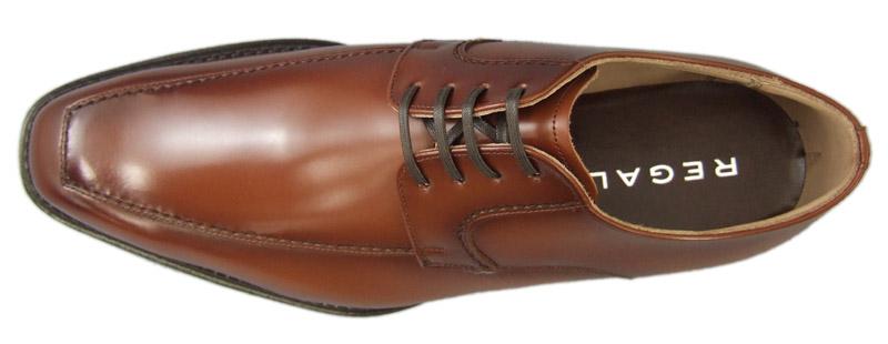 【124RAL】【REGAL】【送料無料】【日本製】アッパー全て本革☆セミマッケイ式 エッジのきいたスクエアトウ!Uチップビジネスシューズ紳士靴