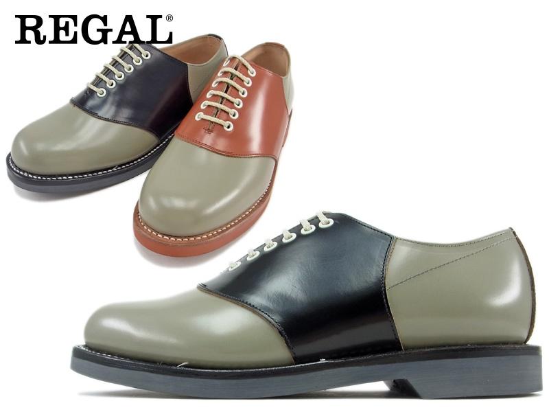 【2051N】【REGAL】【送料無料】【日本製】☆すべて本革サドルオックスフォードビジネスシューズ紳士靴