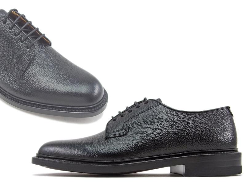 【2509N】【REGAL】【送料無料】【日本製】アッパー全て本革☆ロングラン  型押し加工 プレーントウビジネスシューズ紳士靴
