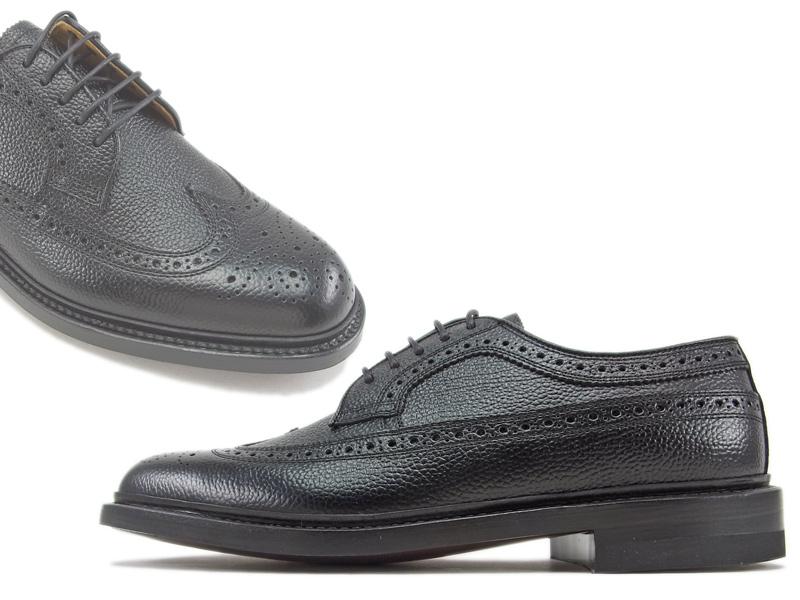【2585N】【REGAL】【送料無料】【日本製】アッパー全て本革☆ロングラン  型押し加工 ウイングチップビジネスシューズ紳士靴