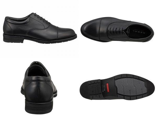 【32NRBB】【REGAL】【送料無料】【日本製】アッパー全て本革☆ゴアテックス(r)ファブリクス 幅広3E ストレートチップビジネスシューズ紳士靴