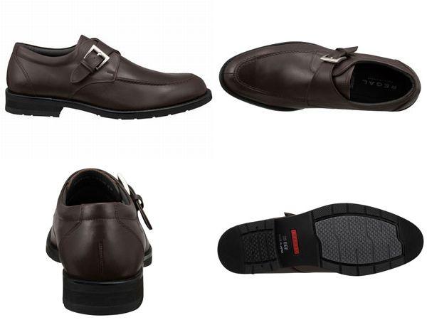 【34NRBB】【REGAL】【送料無料】【日本製】アッパー全て本革☆ゴアテックス(r)ファブリクス 幅広3E  Uモンクビジネスシューズ紳士靴