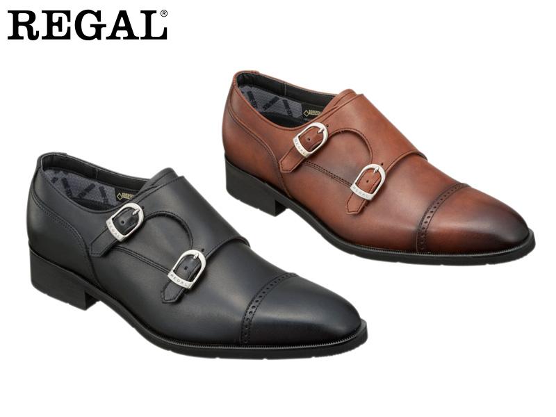 【37HRBB】【REGAL】【送料無料】【日本製】アッパー全て本革☆ゴアテックスRファブリクス!ハイヒール ダブルモンクストラップビジネスシューズ紳士靴