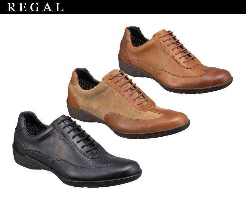 【53NRBJ】【REGAL】【送料無料】ゴアテックス(r)ファブリクス☆すべて本革レースアップレザースニーカービジネスシューズ紳士靴