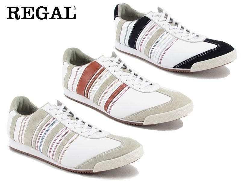 【66MRAD】【REGAL】【送料無料】☆すべて本革レースアップレザースニーカービジネスシューズ紳士靴