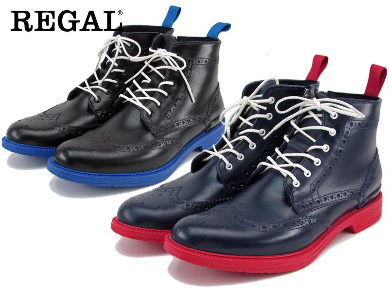 【71HR】【REGAL】【送料無料】【雨対策】☆ウイングチップブーツビジネスシューズ紳士靴