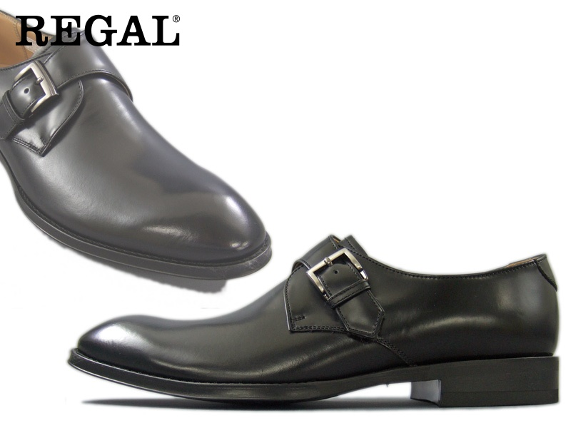 【813RAL】【REGAL】【送料無料】【日本製】アッパー全て本革☆セミマッケイ式モンクストラップビジネスシューズ紳士靴