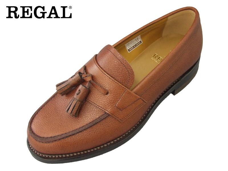 【JJ17AL】【REGAL】【送料無料】【日本製】アッパー全て本革☆グッドイヤーウエルト式型押し加工のタッセルビジネスシューズ紳士靴