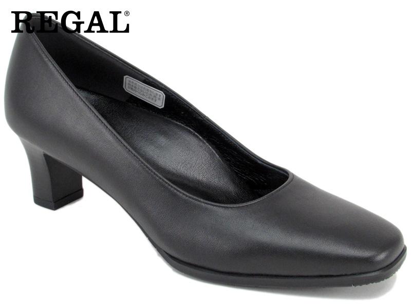 【F04GAE】【Regal】【送料無料】【日本製】牛革 ☆フォーマルスクエアトウプレーンパンプス  婦人靴