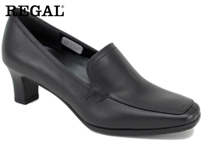 【F05GAF】【Regal】【送料無料】【日本製】牛革 ☆フォーマルスクエアトウプレーンモカシン  婦人靴