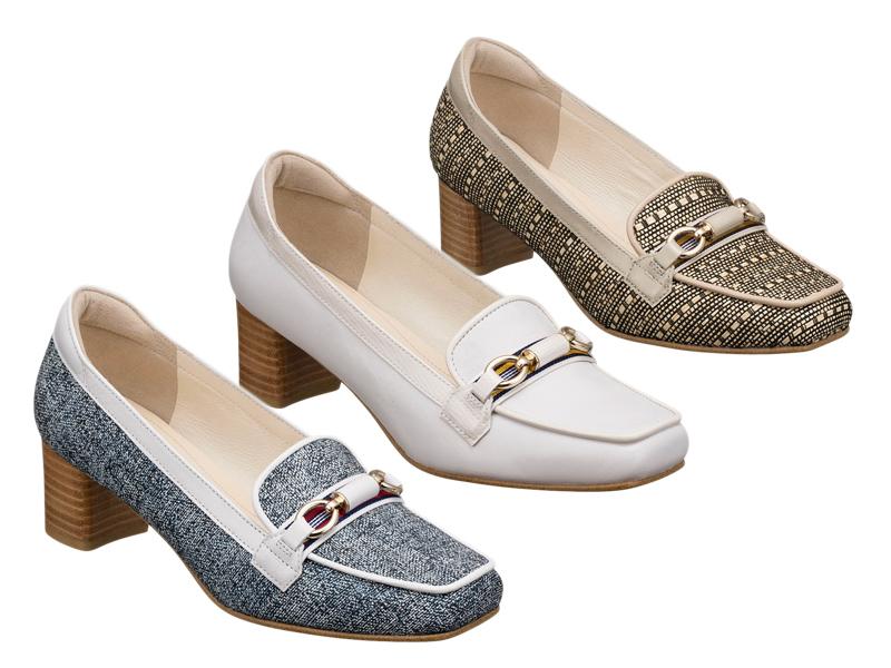 【F21KAF】【REGAL】【送料無料】【婦人靴】5.0センチヒール アッパー全て山羊革☆ヒールローファー