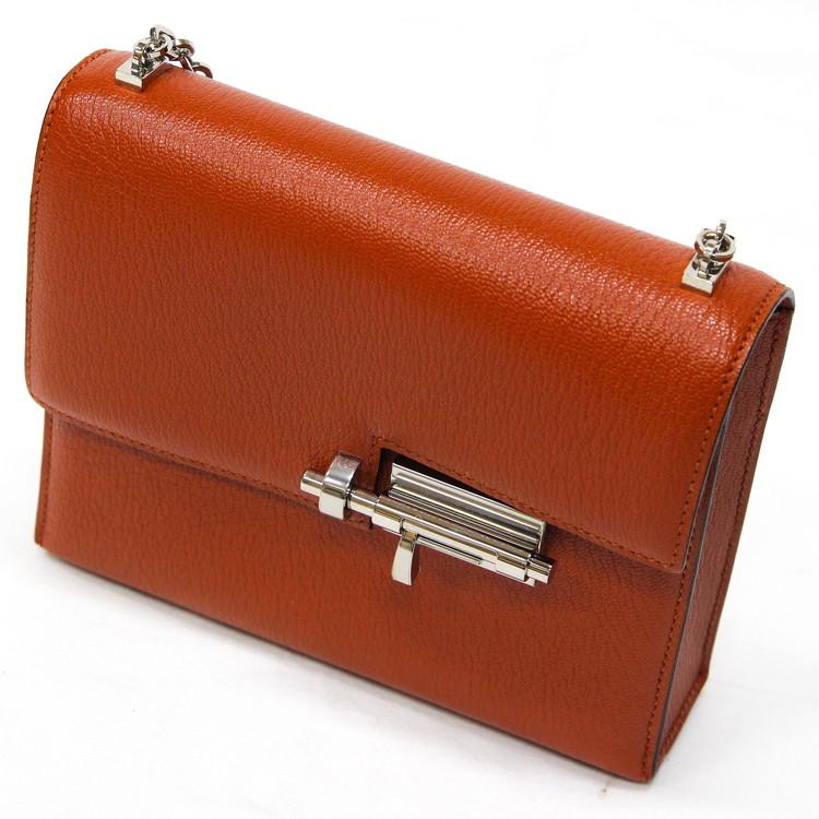 バッグ レディースバッグ ショルダーバッグ エルメス ミニ ヴェルー シェーブル X刻印 2016年製 ブラウン 茶色 ブランドバッグ