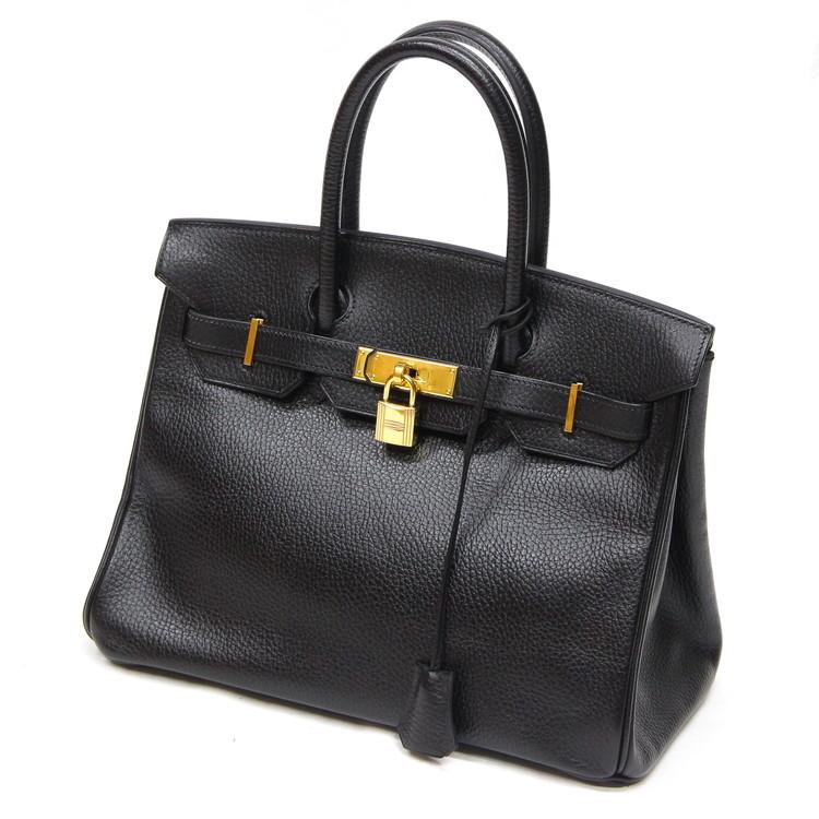 【中古】バッグ レディースバッグ ハンドバッグ エルメス バーキン 30 トリヨンクレマンス ゴールド金具 □D 2000年製 ブラック 黒 ブランドバッグ 鞄
