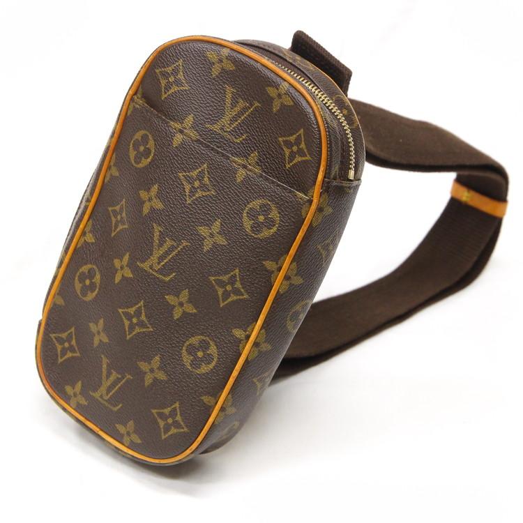 【中古】バッグ レディースバッグ ボディバッグ ウエストポーチ ルイヴィトン ポシェット・ガンジュ M51870 CA1002 2002年製 モノグラム ブラウン LV ビトン ブランドバッグ 鞄