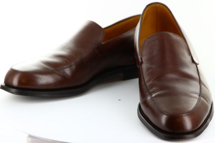 ジョンロブ チェスター 靴 レザーシューズローファー ブラウン 9E メンズシューズ【送料無料】【中古】