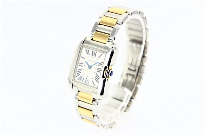 【レディース】【送料無料】【中古】【時計】カルティエ タンクフランセーズ 腕時計レディース w5310046 クォーツSS×K18 シルバー文字盤