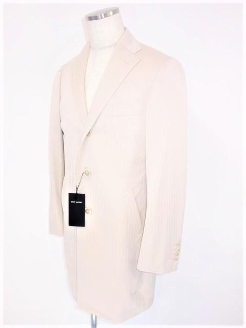 【新品】【メンズ】【コート】【送料無料】リングヂャケット メンズ チェスターコートヘリンボーン織 シングル 3B ベージュコットン100% 表記サイズ 50 ジャケット