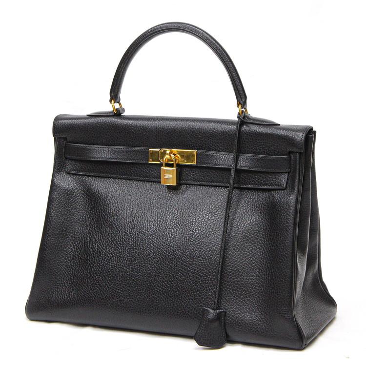【中古】バッグ レディースバッグ ハンドバッグ エルメス ケリー 35 トゴ □A刻印 1997年製 ブラック 黒 ブランドバッグ