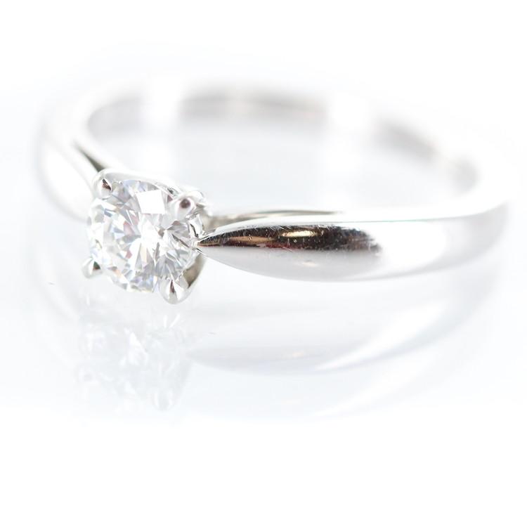 【中古】ジュエリー アクセサリー レディースジュエリー 指輪 リング ヴァンクリーフ&アーペル ソリティア ボヌール Pt950 ダイヤモンド 0.30ct(D VVS2 VG) 8号 3.4g