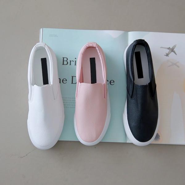 3d494630d08018 スリッポンレディース厚底スニーカーブラック黒ホワイト白ピンクシンプルカジュアル婦人靴レディースシューズ