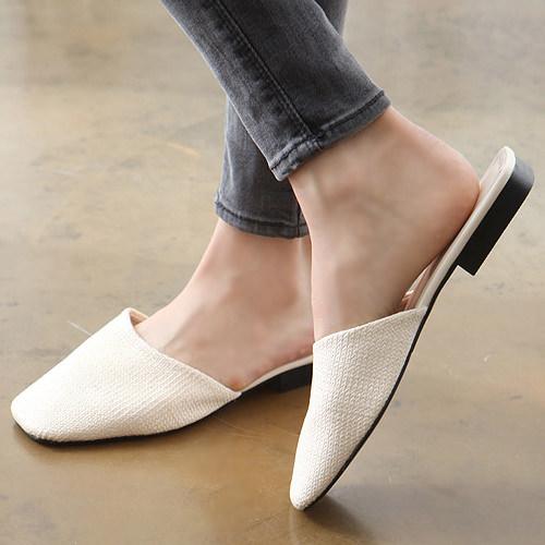 サンダル レディース フラット ラタン 編み込み ぺたんこ 黒 ブラック アイボリー 靴 婦人靴 歩きやすい:DECILITER