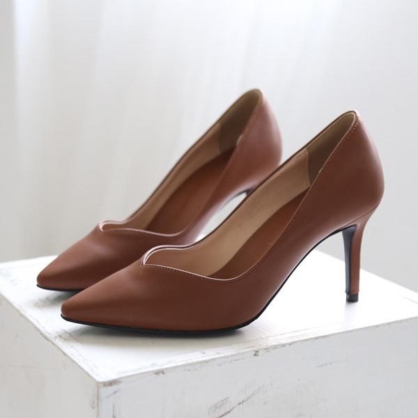 パンプス ポインテッドトゥ ハイヒール 黒 ブラック ベージュ グレー ブラウン グレー ピンク レディースシューズ 婦人靴 痛くない 8cm