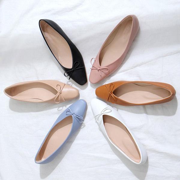 バレエシューズ フラットシューズ パンプス エナメル リボン レディース ローヒール 靴 婦人靴 黒 ブラック ベージュ レッド ブルー ピンク 歩きやすい 痛くない