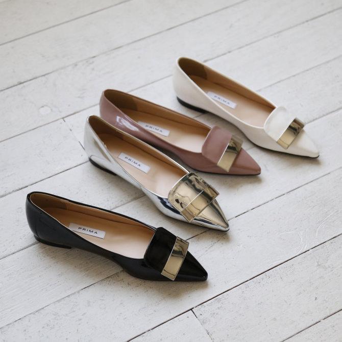 パンプス フラット モチーフ シルバー 黒 ブラック ピンク ホワイト レディースシューズ 婦人靴 結婚式 大人