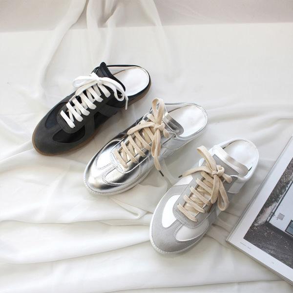 スニーカーサンダル レディース シルバー ブラック シンプル ホワイト スリッポン カジュアル 婦人靴 レディースシューズ