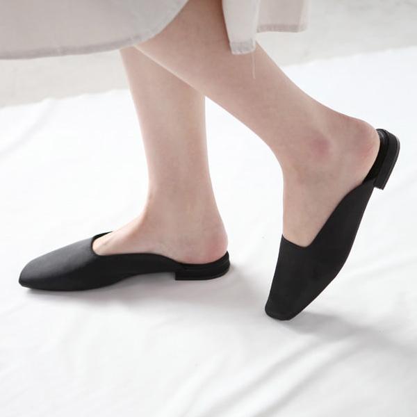 パンプス ローヒール フラットシューズ ぺたんこ ペタンコ サテン 黒 ブラック ブルー ベージュ レディース 靴 婦人靴