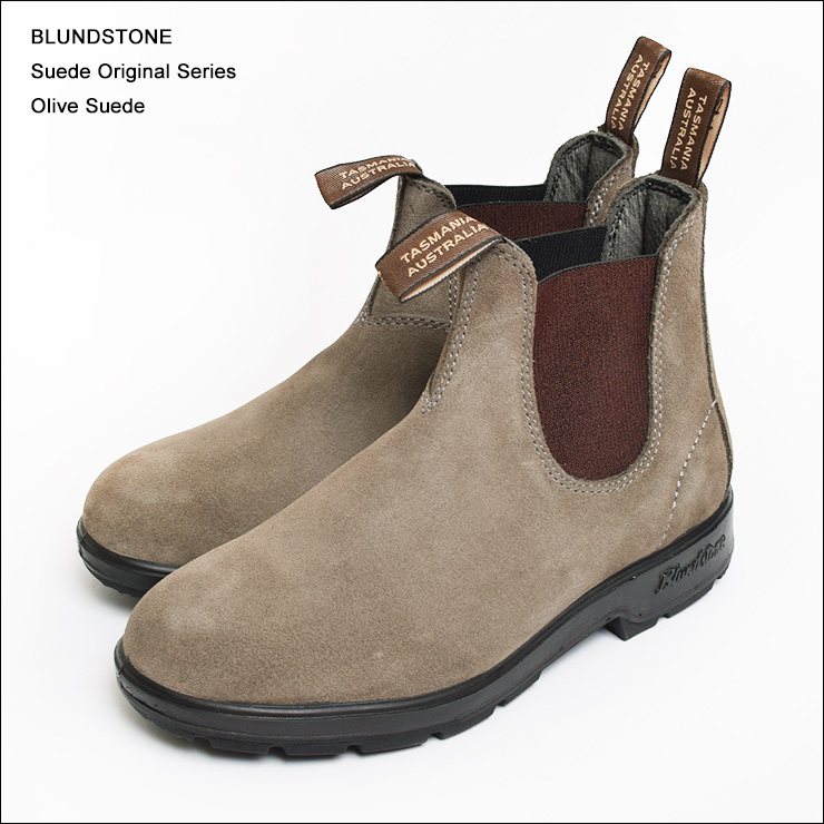 BLUNDSTONE (brands tones) SUEDE ORIGINAL SERIES OLIVE SUEDE men's and  women's side Gore boot-short boots