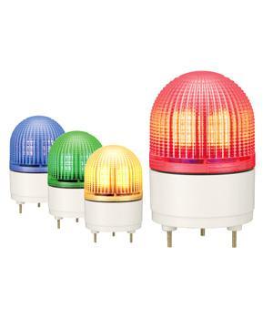 パトライト(PATLITE) LED表示灯 KHE-24 DC24V Ф100パトランプ 点滅、流動、ストロボ 赤色、黄色 送料無料