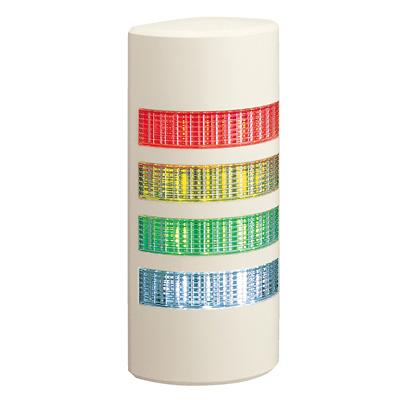 パトライト 薄型LED壁面取付け積層信号灯 ライトグレー WEP-402 4段 点灯 AC/DC24V 赤・黄・緑・青