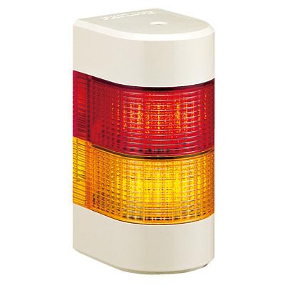 パトライト LED壁面取付け積層信号灯 WME-202AFB 2段 点灯・点滅・ブザー AC/DC24V(赤黄or赤緑)