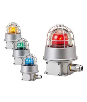 パトライト(PATLITE) 防爆型回転灯 RES-220A AC200V-220V Ф227パトランプ 回転 赤、黄 送料無料
