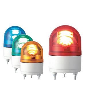 パトライト(PATLITE) LED小型回転灯 RHEB-100 AC100V Ф100 防滴 ブザー付パトランプ 回転 赤色、黄色 送料無料