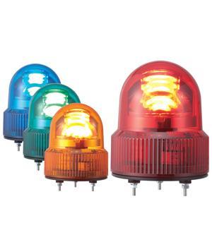 パトライト(PATLITE) LED小型回転灯 SKHEB-200 AC200V Ф118 防滴 ブザー付パトランプ 回転 赤色、黄色 送料無料