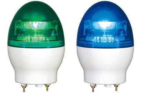 日恵製作所 LED小型回転灯 ニコフラッシュ VL11F-100N AC100V Ф118 制御入力無し(緑or青)