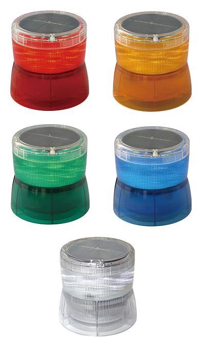 日恵製作所 太陽電池式LED回転灯 ニコソーラー VM10S-B Ф105 バッテリー式 2点留め