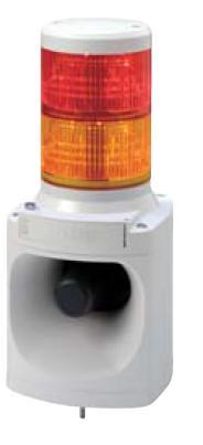パトライト LED積層信号灯付き電子音報知器 LKEH-220F AC220V 2段(色、音色お選びいただけます。)