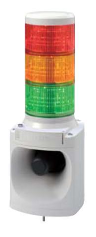 パトライト LED積層信号灯付き電子音報知器 LKEH-310F AC100V 3段 赤黄緑(音色お選びいただけます。)