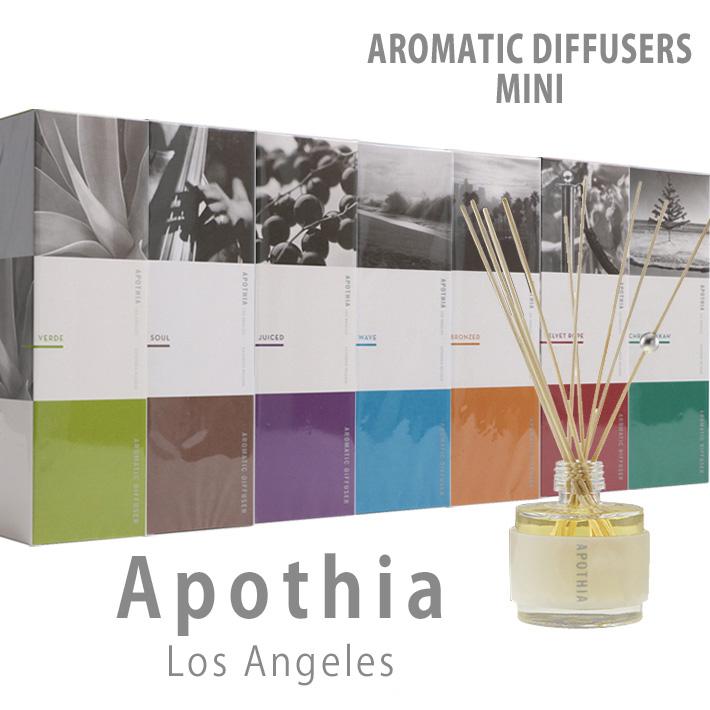 Apothia Los Angeles アポーシア AROMATIC DIFFUSERS MINI ディフューザー ミニ 52ml インテリア アロマ フレグランス 香り 匂い プレゼント