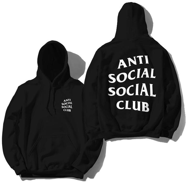 アンチソーシャルソーシャルクラブ パーカー フーディー ANTI SOCIAL SOCIAL CLUB ORIGINAL LOGO HOODIE ブラック メンズ ユニセックス
