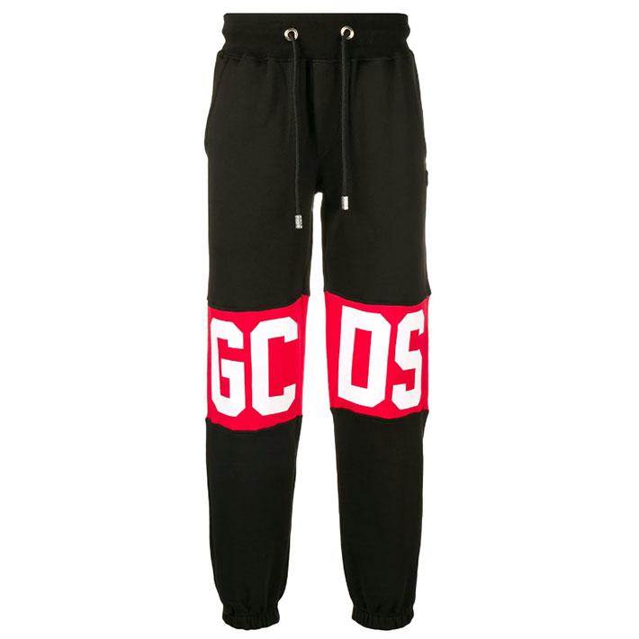【マラソン中70%割】GCDS ジーシーディーエス スウェットパンツ PANTS CC94U020037 BLACKMENS メンズ SWEAT パンツ ブラック 黒 BIG ロゴ イタリア
