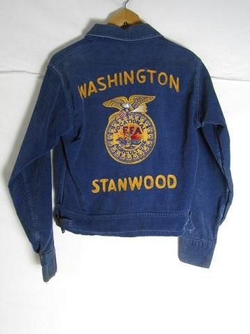 50年代製 FFA ファーマーズ コーデュロイジャケット ネイビー S位 vintage 激安超特価 ワシントン メンズ 中古 SMALL 着後レビューで 送料無料